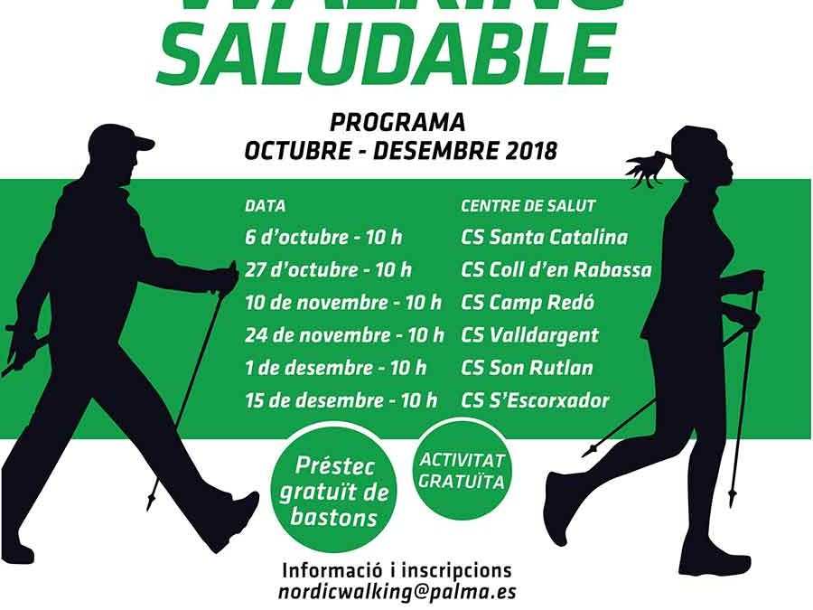 Nordic walking saludable al Centre de Salut del Coll d'en Rebassa. Dissabte 27 d'Octubre.