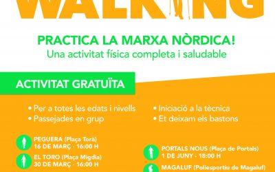 Nordic Walking a Calvia. Dissabte, 30 de març a les 16:00h al Toro (Plaça Migdia)