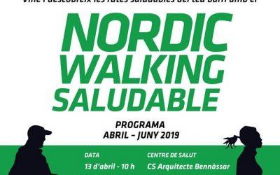 Activitat gratuïta d'iniciació. Nordic Walking Saludable al Centre de Salut de Son Serra (La Vileta). Dissabte 27 d'abril a les 10h.