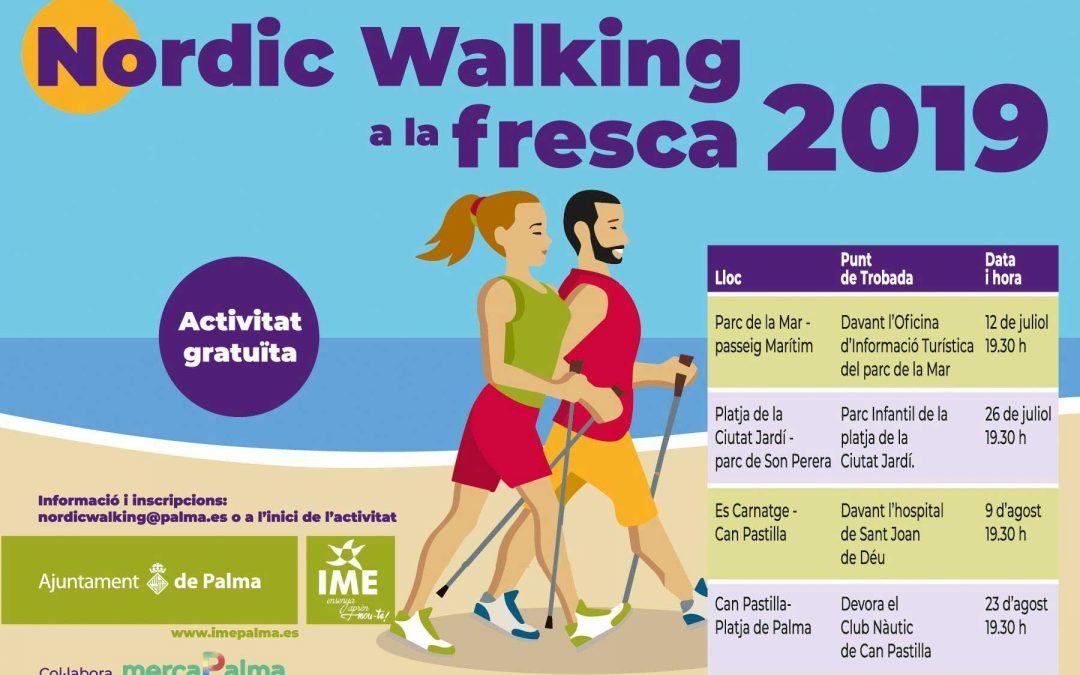 Activitat gratuïta d'Iniciació-NW a la Fresca a Can Pastilla. 23 d'agost a les 19:30h