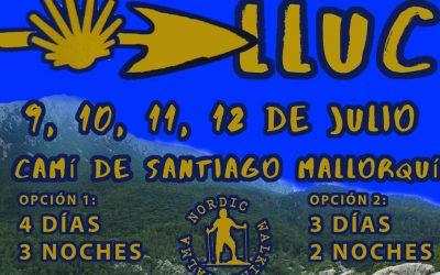Cap de setmana a Lluc. Camí de Santiago Mallorquí. 9-10-11-12 de juliol.