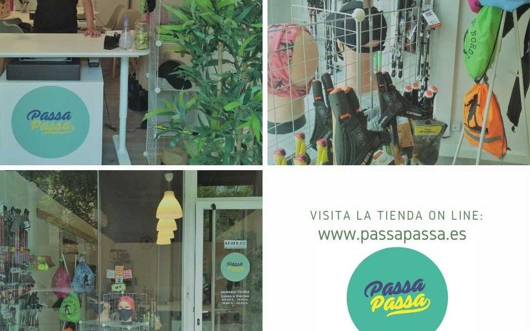 La nova tenda online i tenda física PassaPassa. Bastons, tacos, mascaretes i molt més!!!