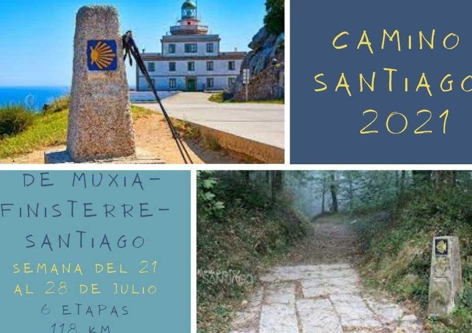 Camino de Santiago 2021. Del 21 al 28 de Julio. Muxia-Finisterre-Santiago